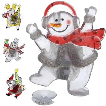 Weihnachtsbeleuchtung Fenster Batterie.Ls Design 4x Kinder Weihnachtsbeleuchtung Fenster Beleuchtet Deko Fensterbild Batterie Lichterkette
