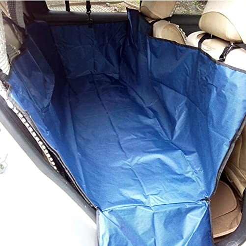 PANDA SUPERSTORE Waterproof Oxford Fabric Pet Car Seat Cover Dog Mat Rear Seat, Blue