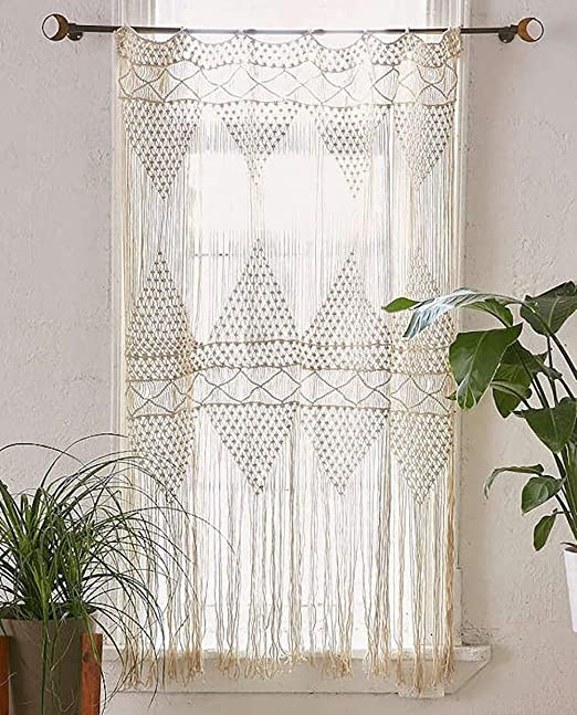 Amazon Com Flber Macrame Curtain Macrame Wall Hanging Macrame