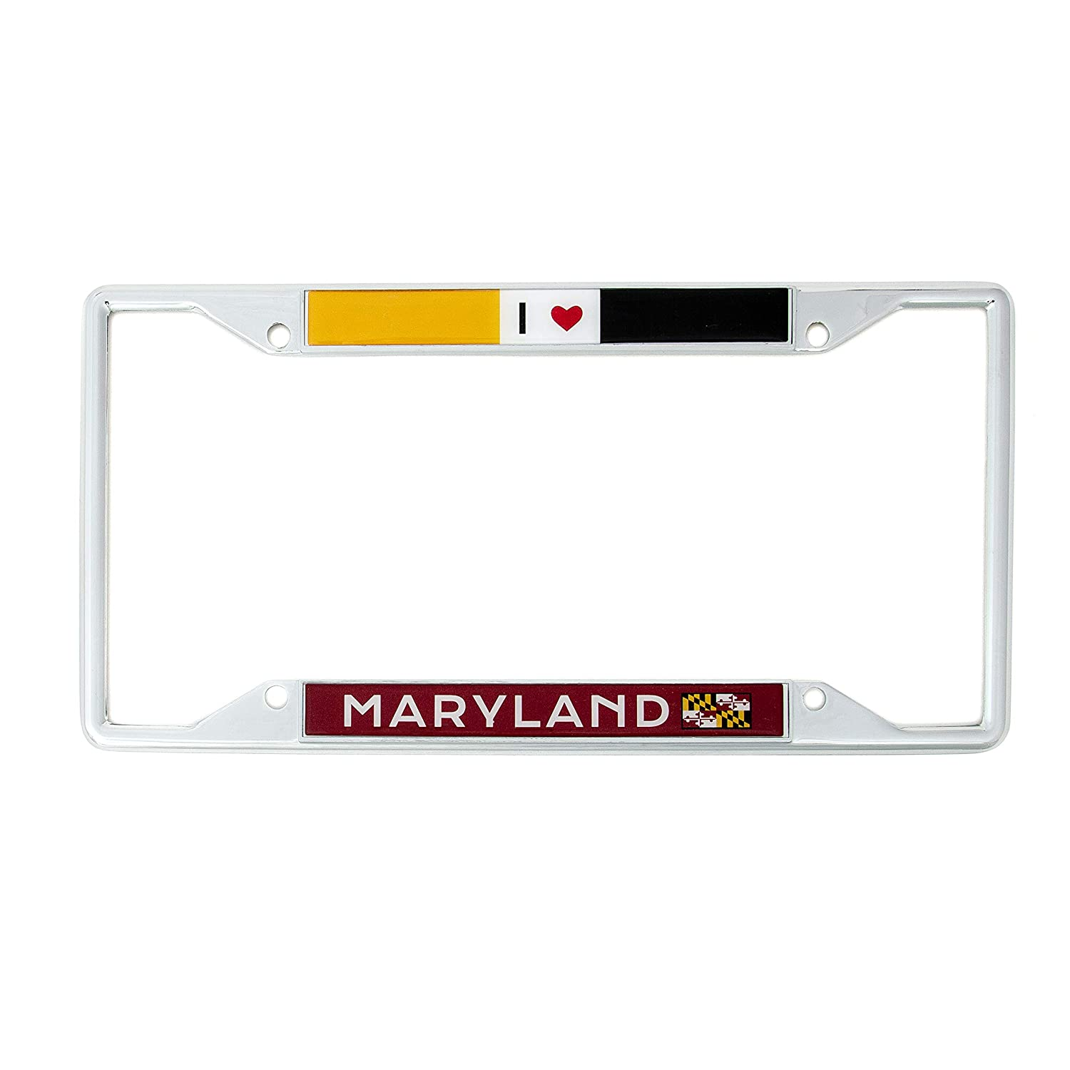 Desert Cactus State of Maryland I Heart Love License Plate Frame for Front Back of Car Vehicle Truck
