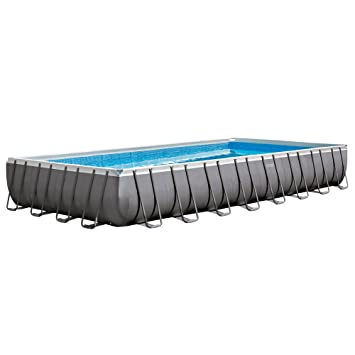 Amazon.com : Intex 32ft X 16ft X 52in Ultra Frame Rectangular Pool ...