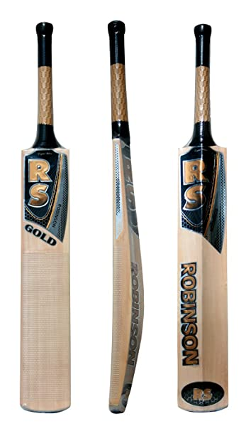 6b18efad7 RS Robinson Gold English willow Bat ( Short Handle)  Amazon.in  Sports