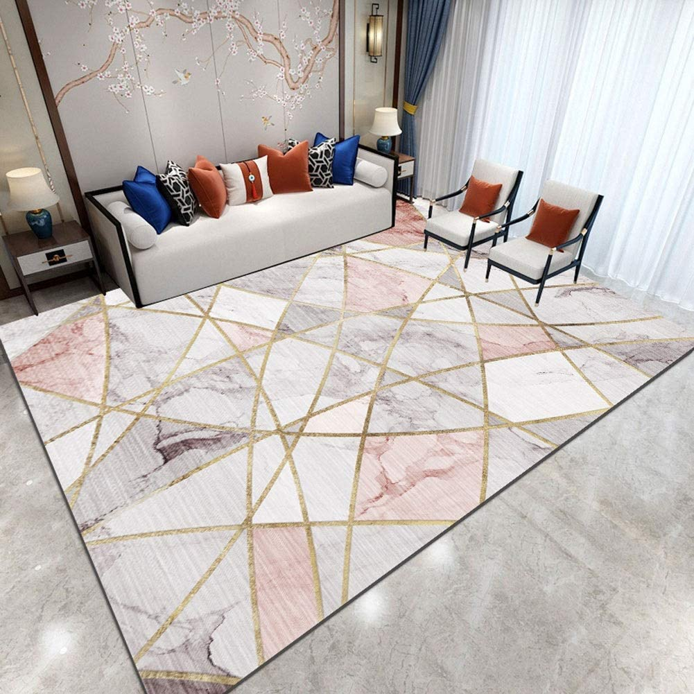 QUD Soft Area Rugs Parlor Mat Rugs Nordic Carpets Anti-Slip Large Rug Carpet for Living Room Decor 20/1/26 (Size : 160x230cm)
