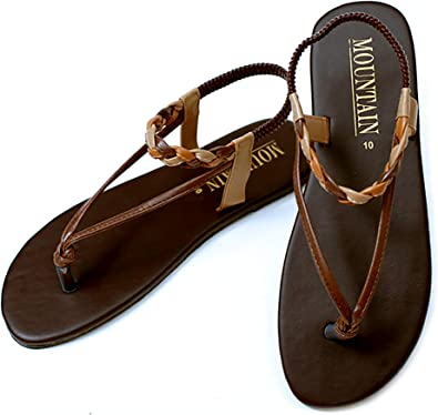 WOMENS TAN COMFORT WALKING SLIP ON MULE GLADIATOR SUMMER SANDALS LADIES SIZE