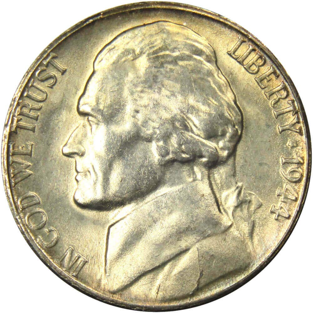 1944 S Jefferson Nickel Uncirculated At Amazons Collectible Coins Store