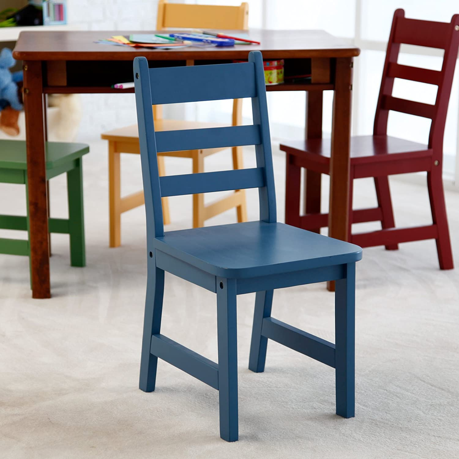 Amazon Lipper Childrens Walnut Rectangle Table and 4 Chairs