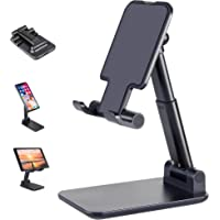 Cell Phone Stand, ANDATE Angle Height Adjustable Cell Phone Stand for Desk, Fully Foldable Cell Phone Holder, Cradle…