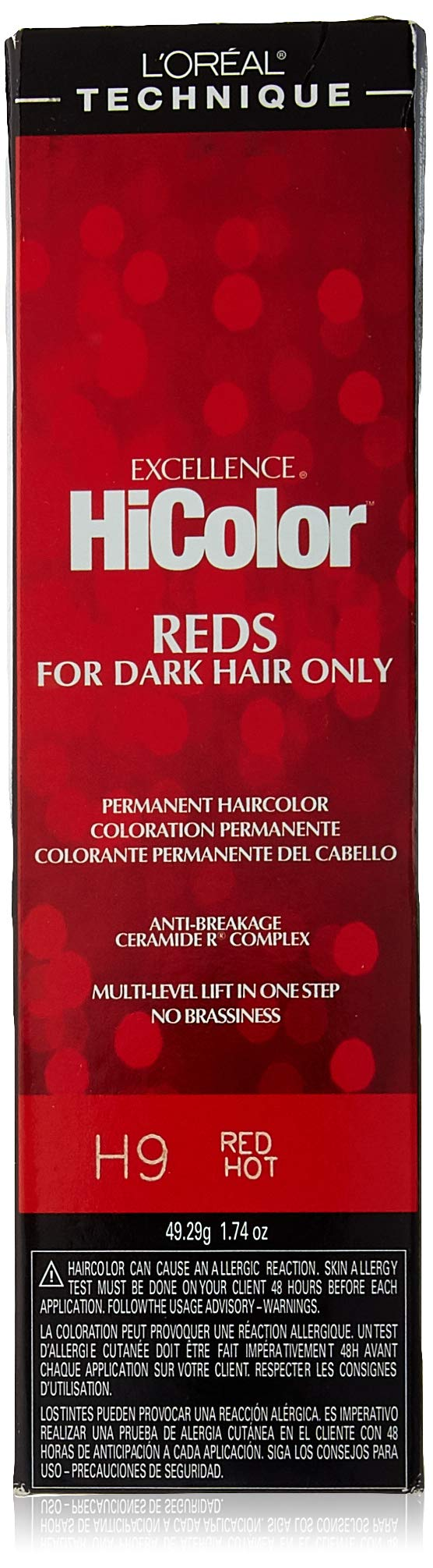 Loreal Excellence Hicolor H09 Tube Red Hot 1.74 Ounce (51ml)