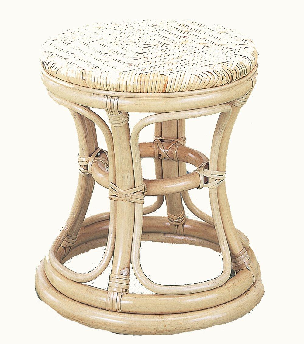 籐家具(ラタン) 籐スツール 座面径35 H40 S66 B0018PC51S