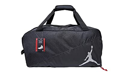 new concept 3849d e26bf Nike New Jordan Jumpman Sports Elemental Duffel Bag Black Silver Medium