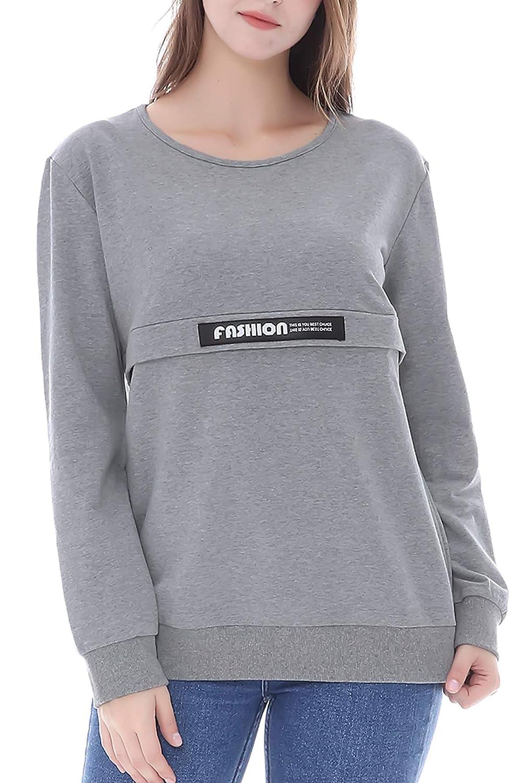 Smallshow Sweatshirt dallaitement pour Femme de /à Manches Longues