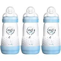 MAM Easy Start Anti-Colic babyfles (260 ml) set van 3, baby drinkfles met innovatieve bodem tegen krampjes, MAM-fles met…
