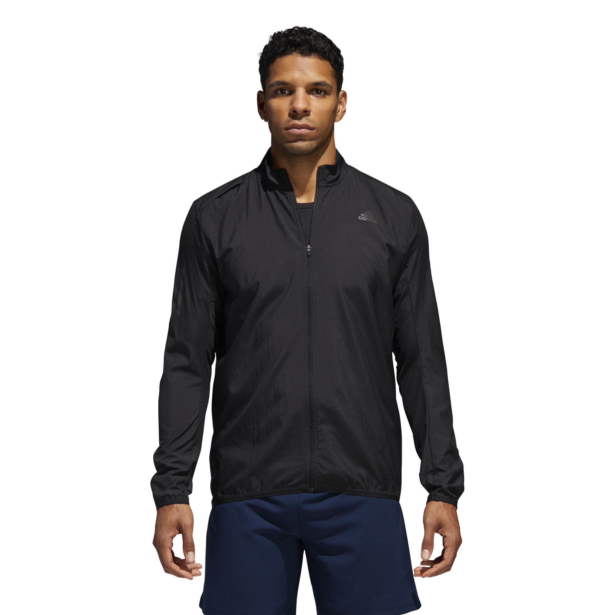 adidas Men's Running Response Wind Jacket, Black/Black, X-Large by adidas