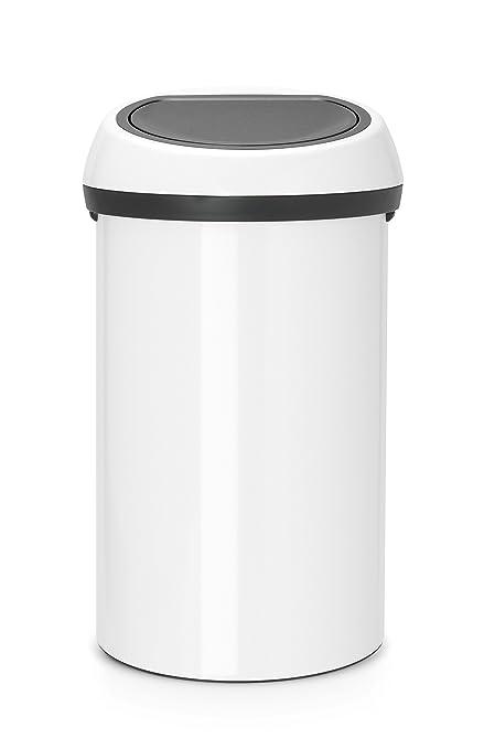 Favorit Brabantia Abfalleimer Touch Bin 60 L mit Deckel in weiß/grau YI23