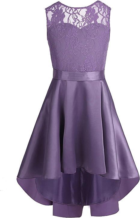 Yizyif Festliches Madchen Kleider Prinzessin Brautjungfern Kleider Festlich Hochzeit Party Blumenmadchen Kleid Festzug Amazon De Bekleidung