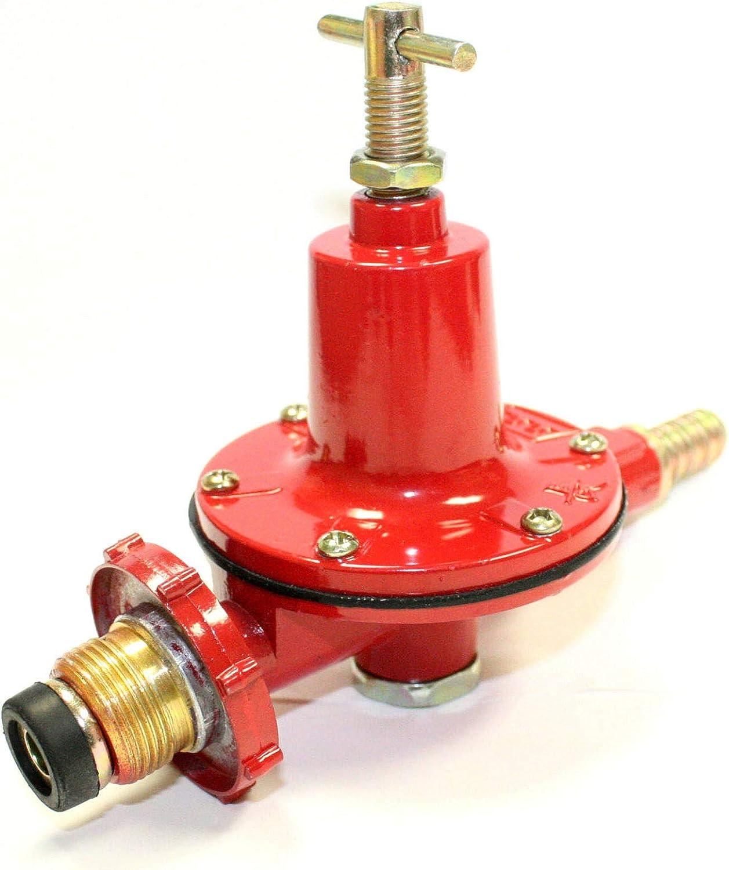 Cypress Shop Propane Regulator High Pressure Gas Stove Burner LP LPG BBQ Gas Burner Valve Adjustable 0-30 PSI Gas Flow Home Kitchen Cooking Tools