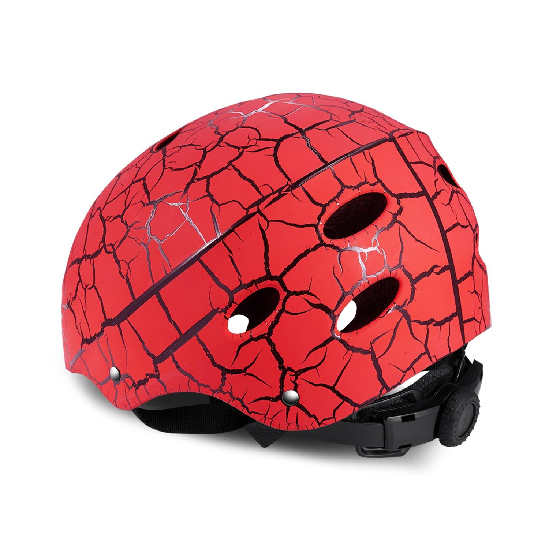 52-56cm SKL Skate Helmet Adjustable Skateboard Helmet Roller Skating Scooter Cycling Helmet with ABS Shell for Kids /& Youth
