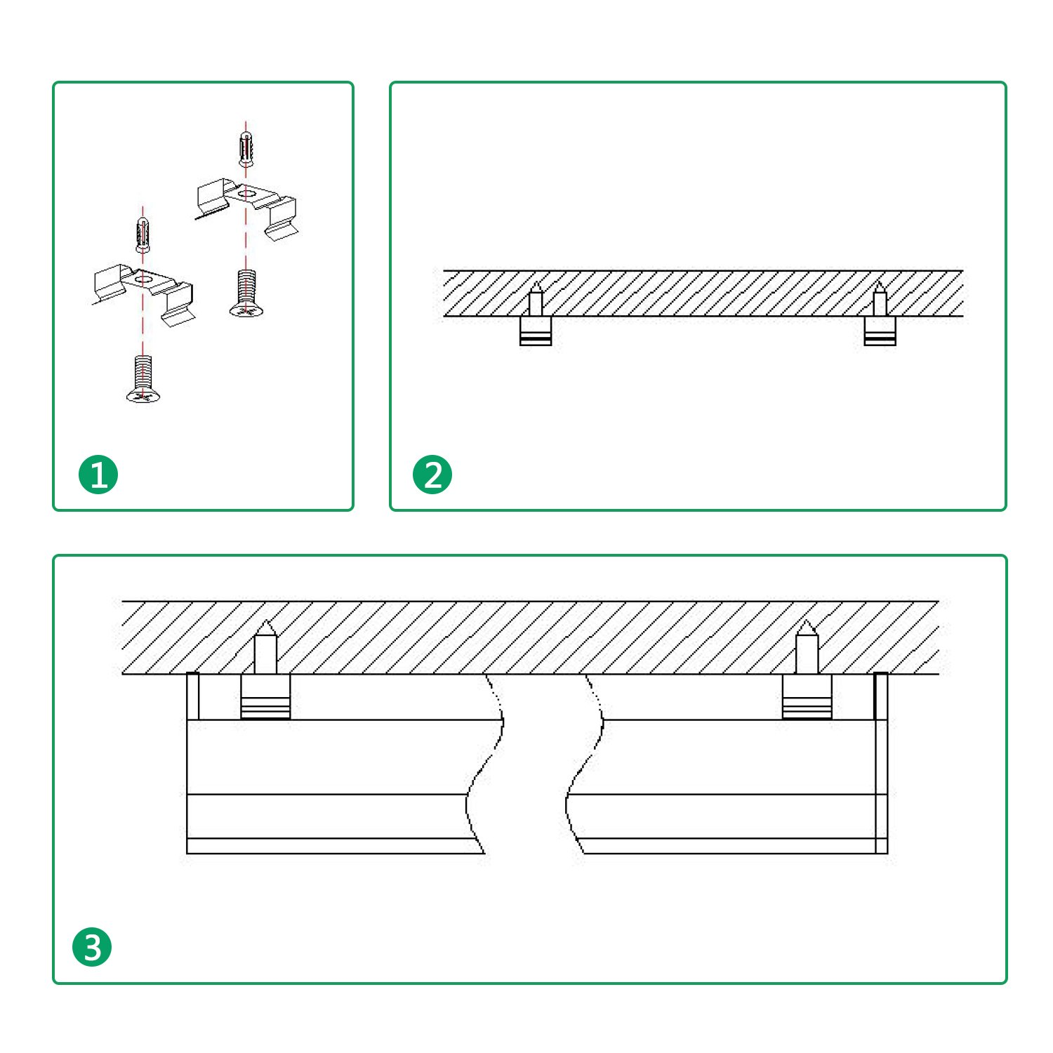 FrenchMay LED T5 mini utility linkable shop light 4ft, 22W, 85CRI, 2200Lumens, 5000K, 32w Fluorescent Equivalent, integrated ceiling light & under Cabinet shop light for garage, workshop, basement by FrenchMay (Image #4)