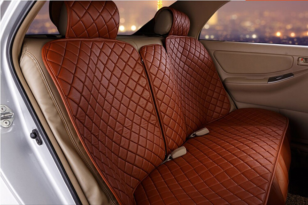 18pc superior quality luxury coffee Seat Covers imitation leather Seating Universal Full Set car seat cover Easy to install Fit Most Car by Maimai88 (Image #3)