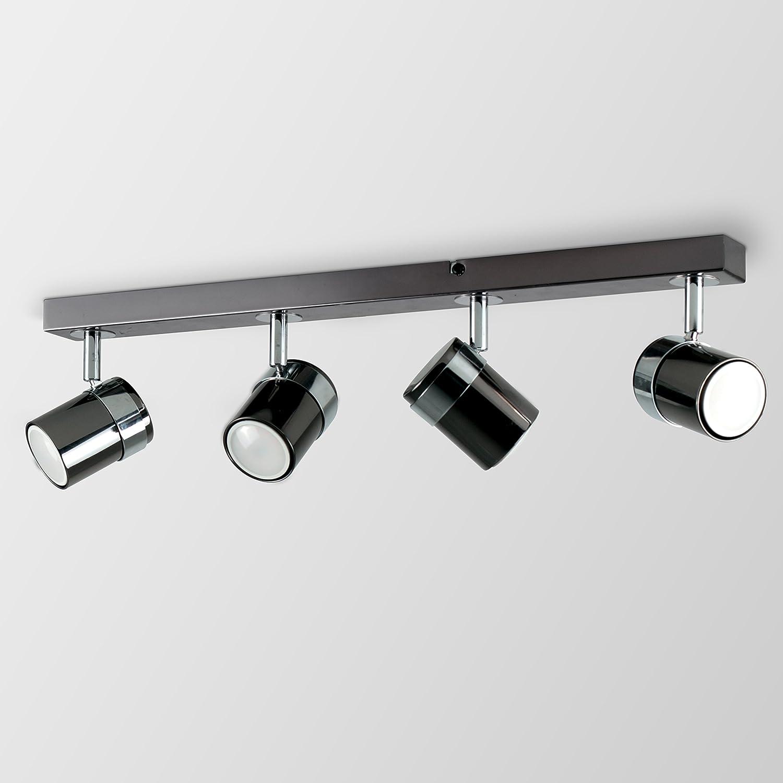 MiniSun – Moderno plafón para el techo, con 4 focos ajustables y montados en una regleta