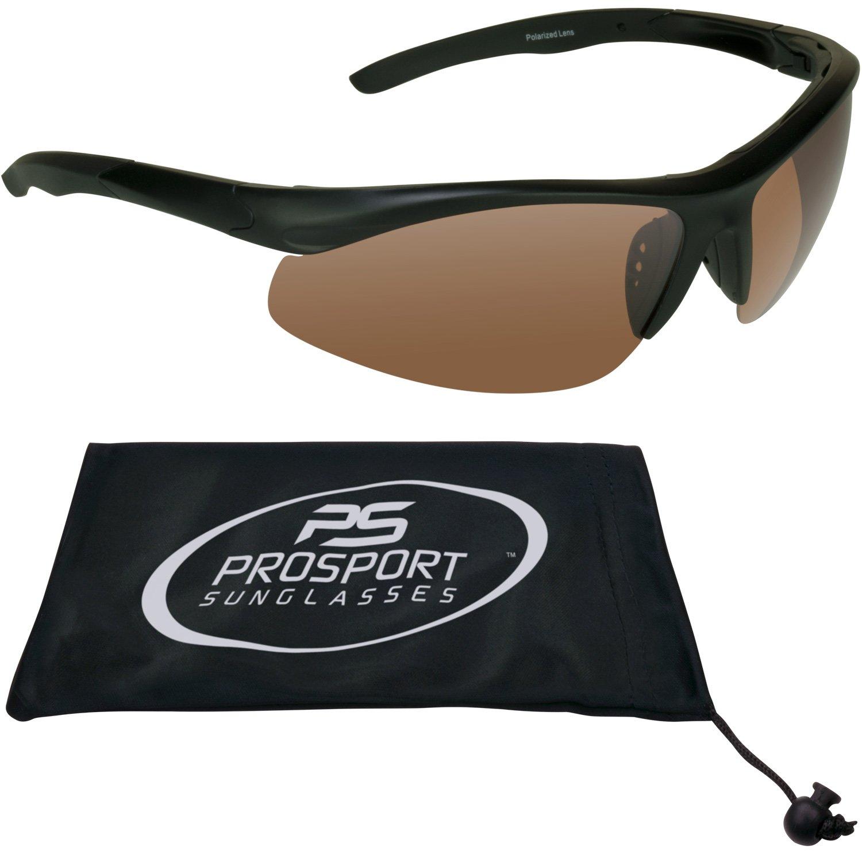 ad4d10ffada Amazon.com  TR90 Semi Rimless Blue Blocker HD Vision Polarized Sunglasses  for Golf
