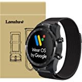 for TicWatch Pro Band, Lamshaw Milanese Magnetic Loop Stainless Steel Watch Strap for TicWatch Pro Bluetooth Smart Watch-2018 (Black)