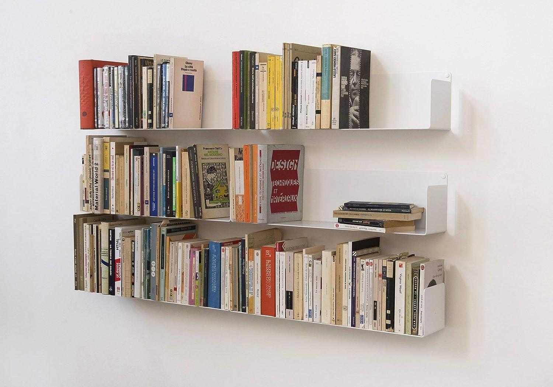 TEEbooks/-/Estante para Libros de Acero Inoxidable de Color Blanco de 60/x/15/x/15/cm