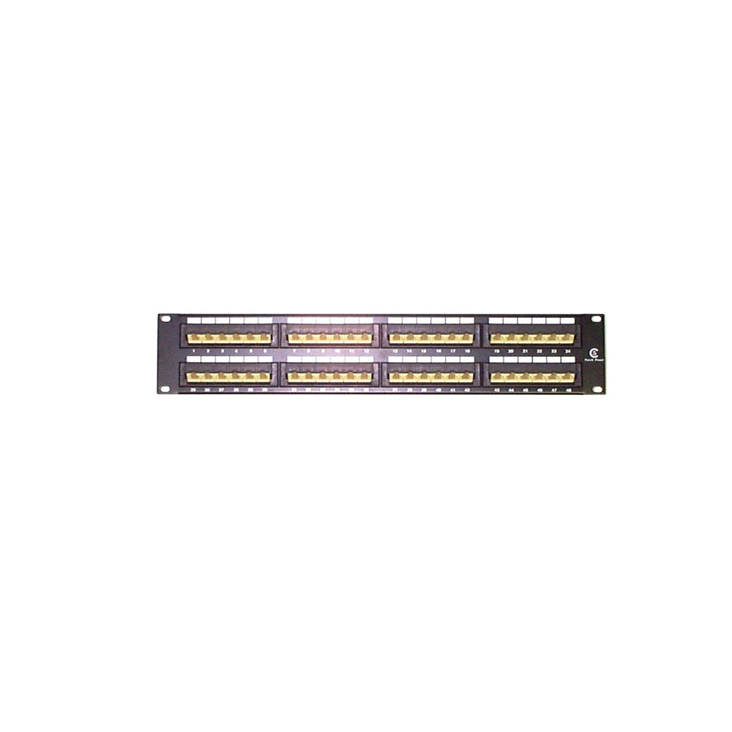 StarTech.com 2U 48 Port Rackmount Cat5e 110 Patch Panel - 45 Degree by StarTech