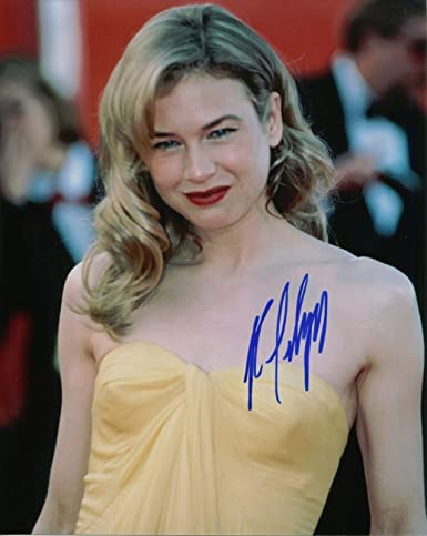 Renee Zellweger Signed Sexy In Yellow Dress 8x10 Color Photo With Coa Pj