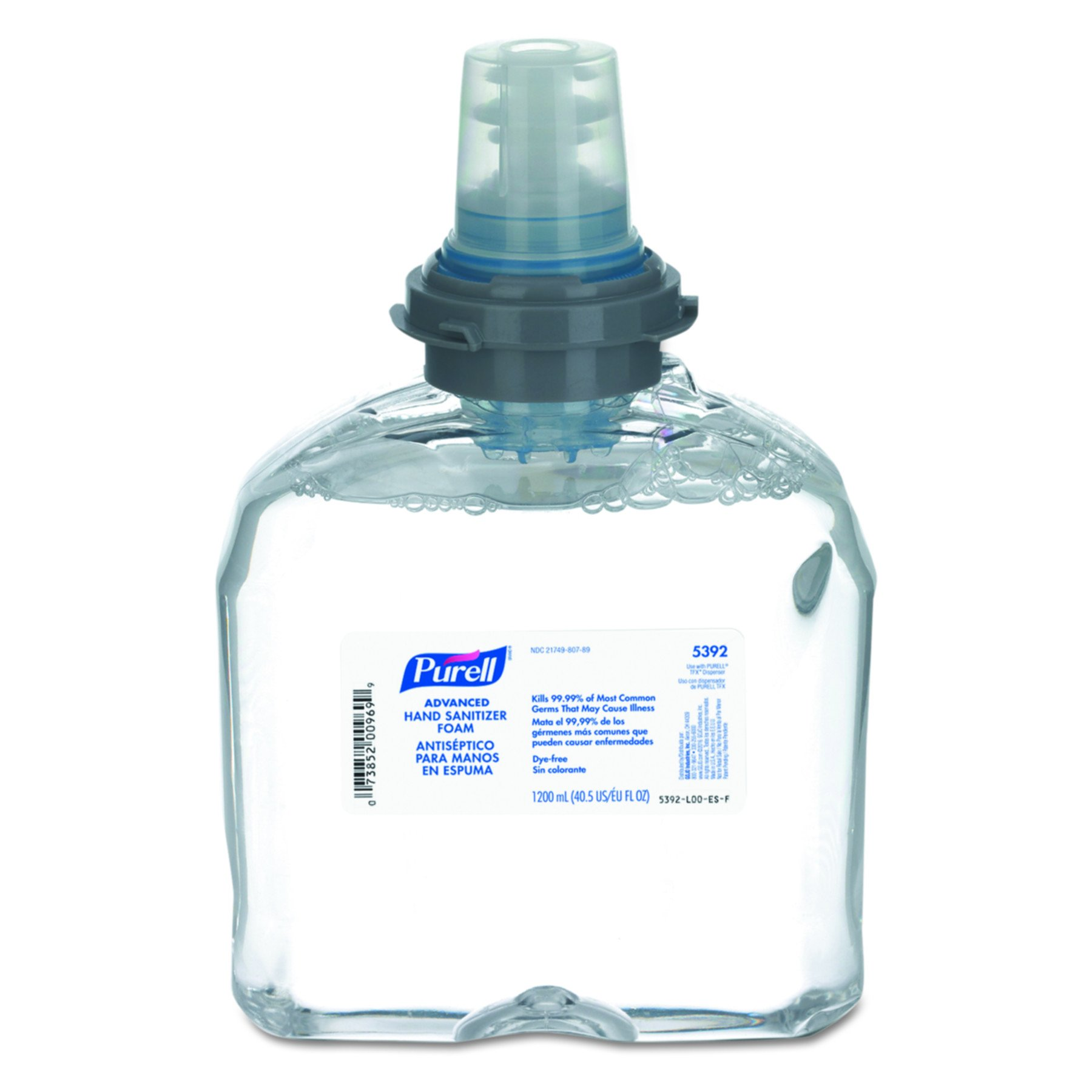 PURELL 5392-02 Advanced TFX Foam Instant Hand Sanitizer Refill - 1200mL, Clear (Case of 2)