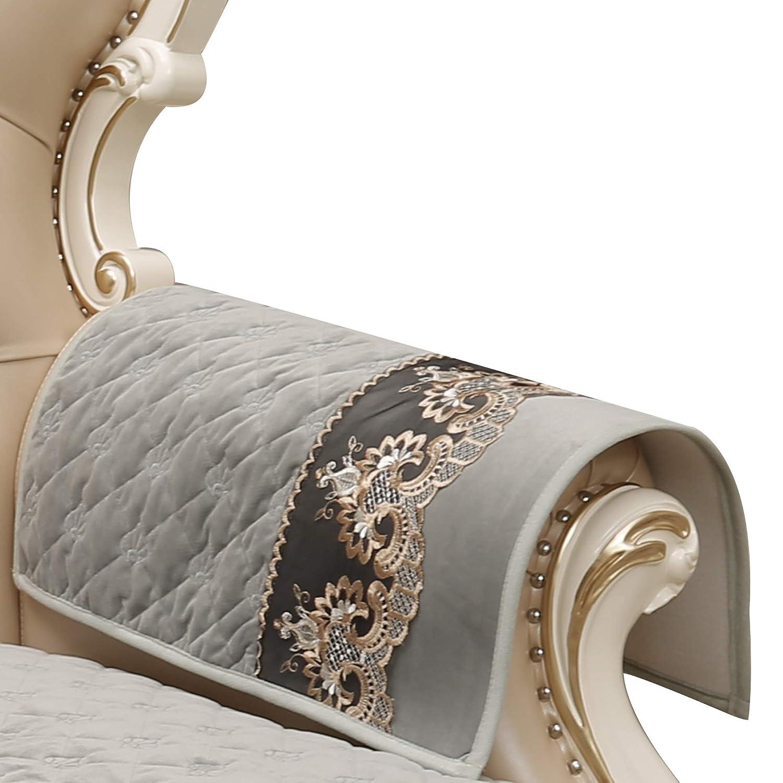 Bbluee Armrest cover-2pcs 20x24  Sideli Luxury Chenille Jacquard Sofa Slipcover Anti-Slip Sectional Furniture Predector Petproof(35 x82 -Oversized Sofa, Beige)