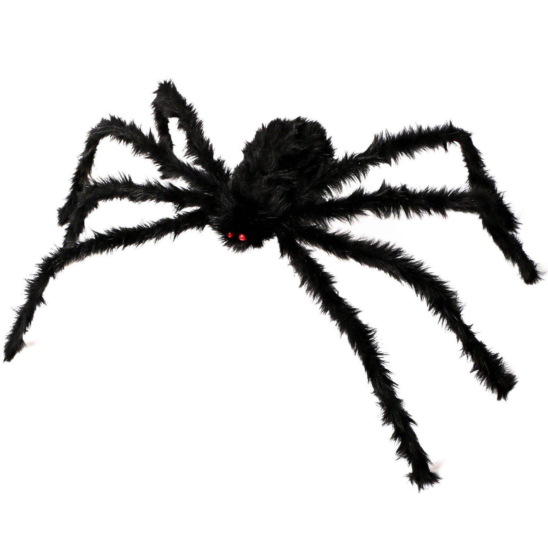 Kearui Halloween Decorations, Outdoor Indoor Halloween Spider Hairy Poseable Scary Spider Tarantula for Patio Yard Garden House Decorations, 4 ft / 125 cm