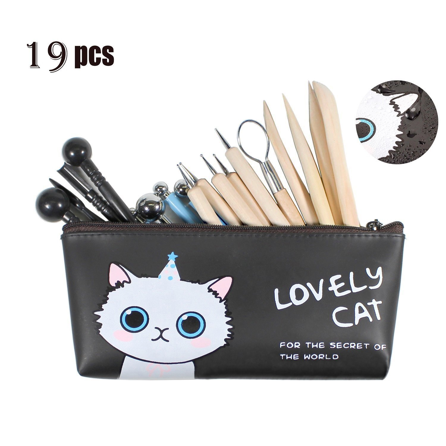 Asery Polymer Clay Tools 19Pcs Modeling Clay tools set Ball Styluses Tool Clay Wooden Dotting Tools with Storage Case For Pottery Modeling Clay Sculpture APMCS1 4336898869