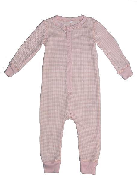 Pelele pijama térmico en forma de luz diseño de rayas de color rosa palo