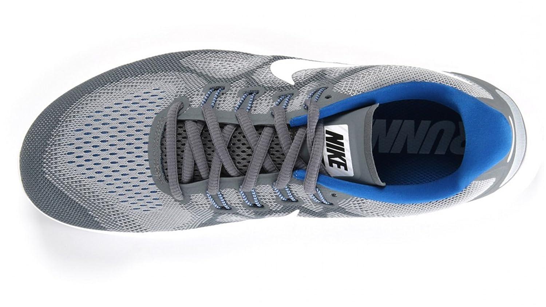 NIKE Men's Free RN Running Shoe B073MXXVD9 10.5 D(M) US Grey/White/Blue-m
