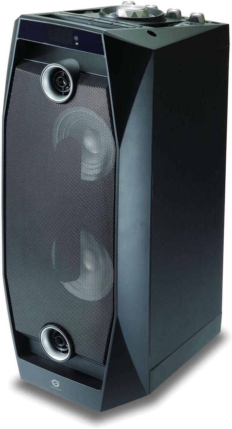 Conceptronic CSPKBTBASSDISCOB 50 W Negro - Altavoces portátiles (50 W, 100-20000 Hz, 125 dB, 1%, Inalámbrico y alámbrico, Negro)
