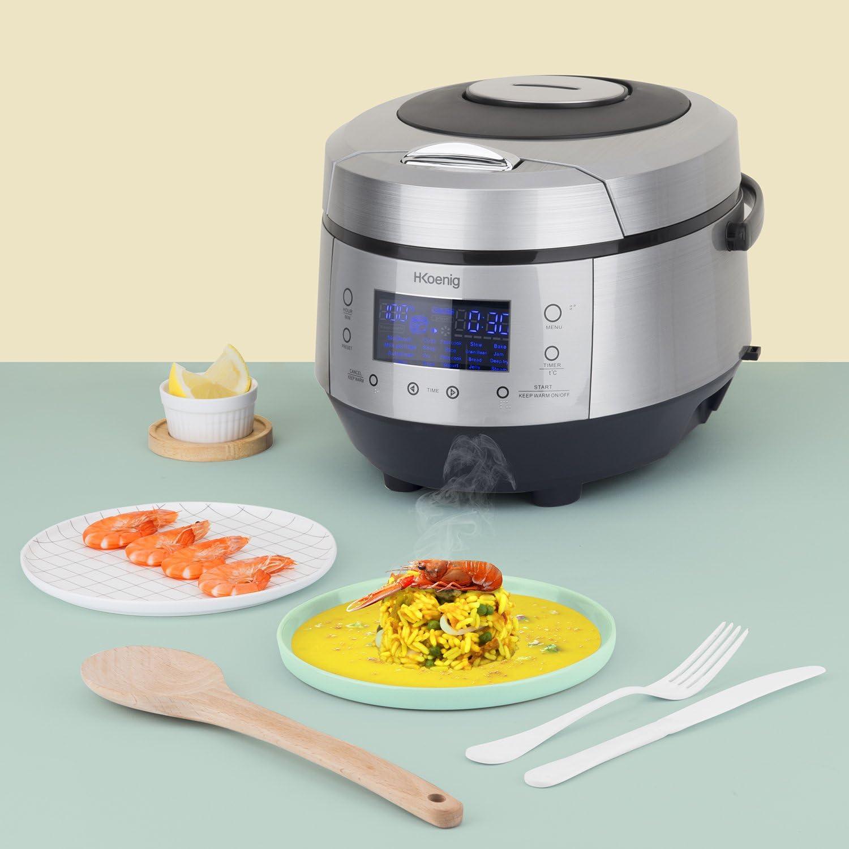 H.Koenig MLCOOK10 Robot de Cocina, 860 W, 5 litros, Plateado y Negro: Amazon.es: Hogar