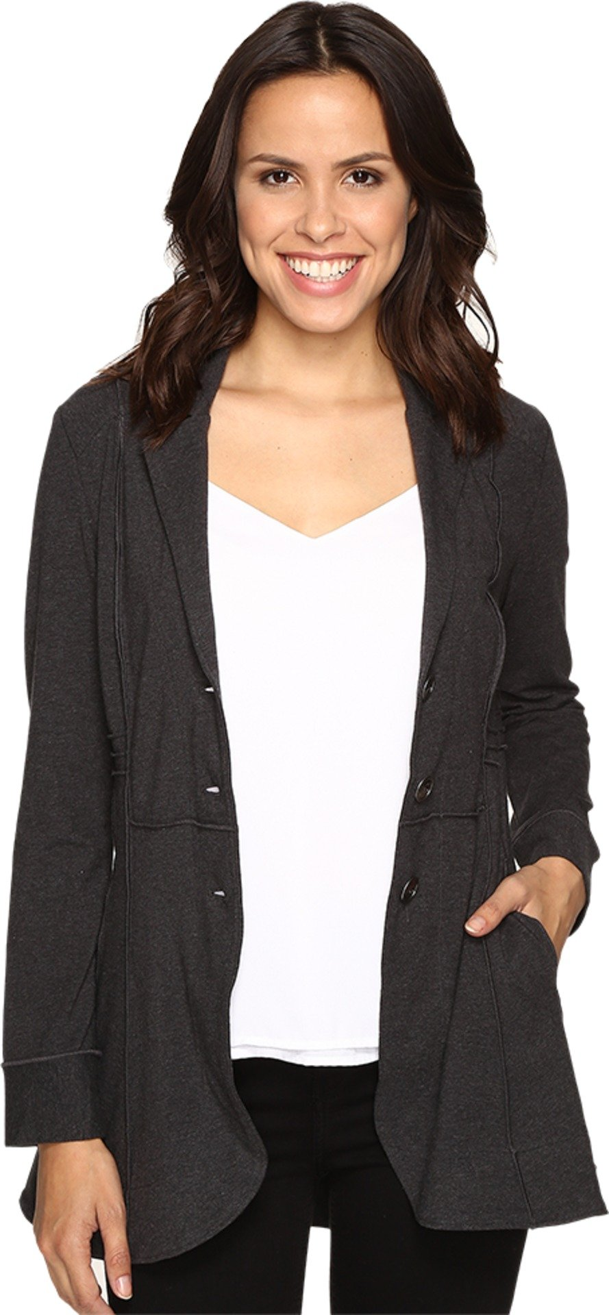 NIC+ZOE Women's Seamed Riding Jacket Phantom Heather Jacket