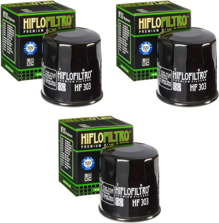 3x Filtro de aceite Honda XL 650 V Transalp 00-07 Hiflo HF303