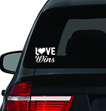 Amazoncom Love Wins Car Decal Gay Marriage Pride Celebrate - Custom vinyl car stickers