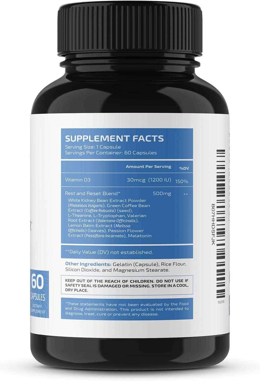 Nobi Nutrition Night Time Fat Burner, Sleep Aid an Appetite Suppressant - Stimulant-Free PM Weight Loss Pills & Metabolism Booster for Men and Women - Healthier Diet Pills - 60 Capsules