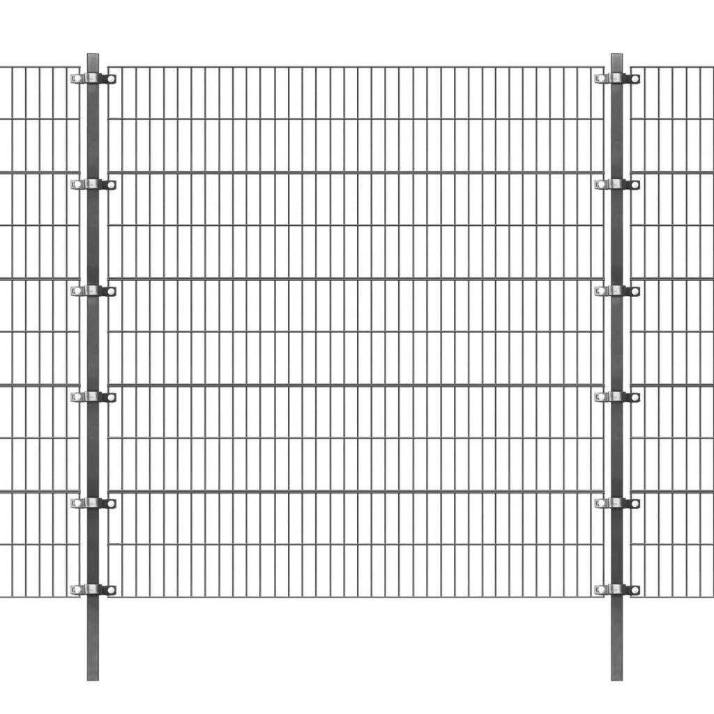 Festnight Garden Fence Panel Animal Iron Wire Net Border Anthracite Length  6 m Height  2m