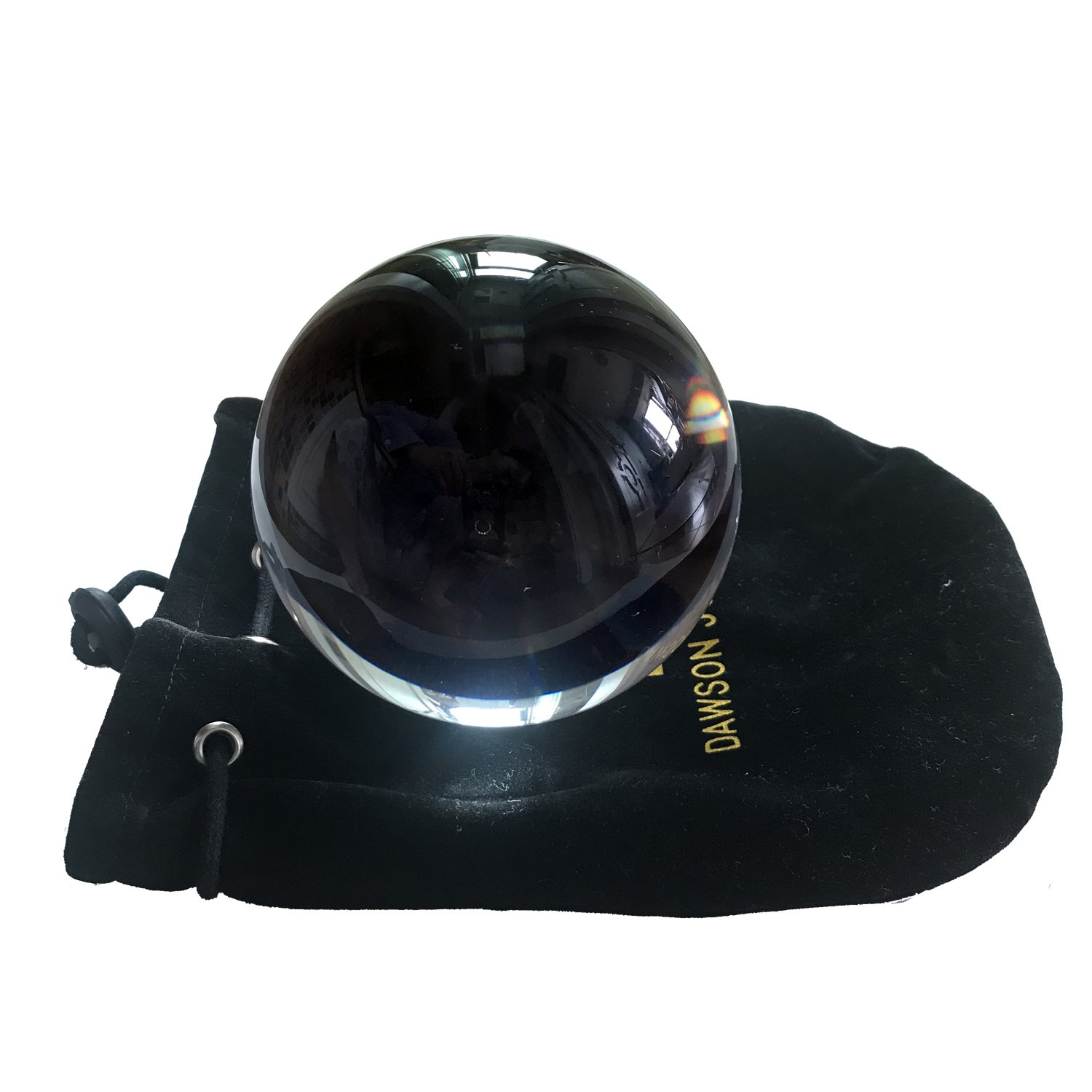 DSJUGGLING Clear Acrylic Contact Juggling Ball 4 100mm Packed with Protective Bag