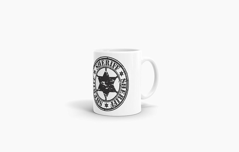 """Qualität Made in Germany Tasse mit Spruch /""""Sheriff/"""" Kaffeetasse Cup Mug"""