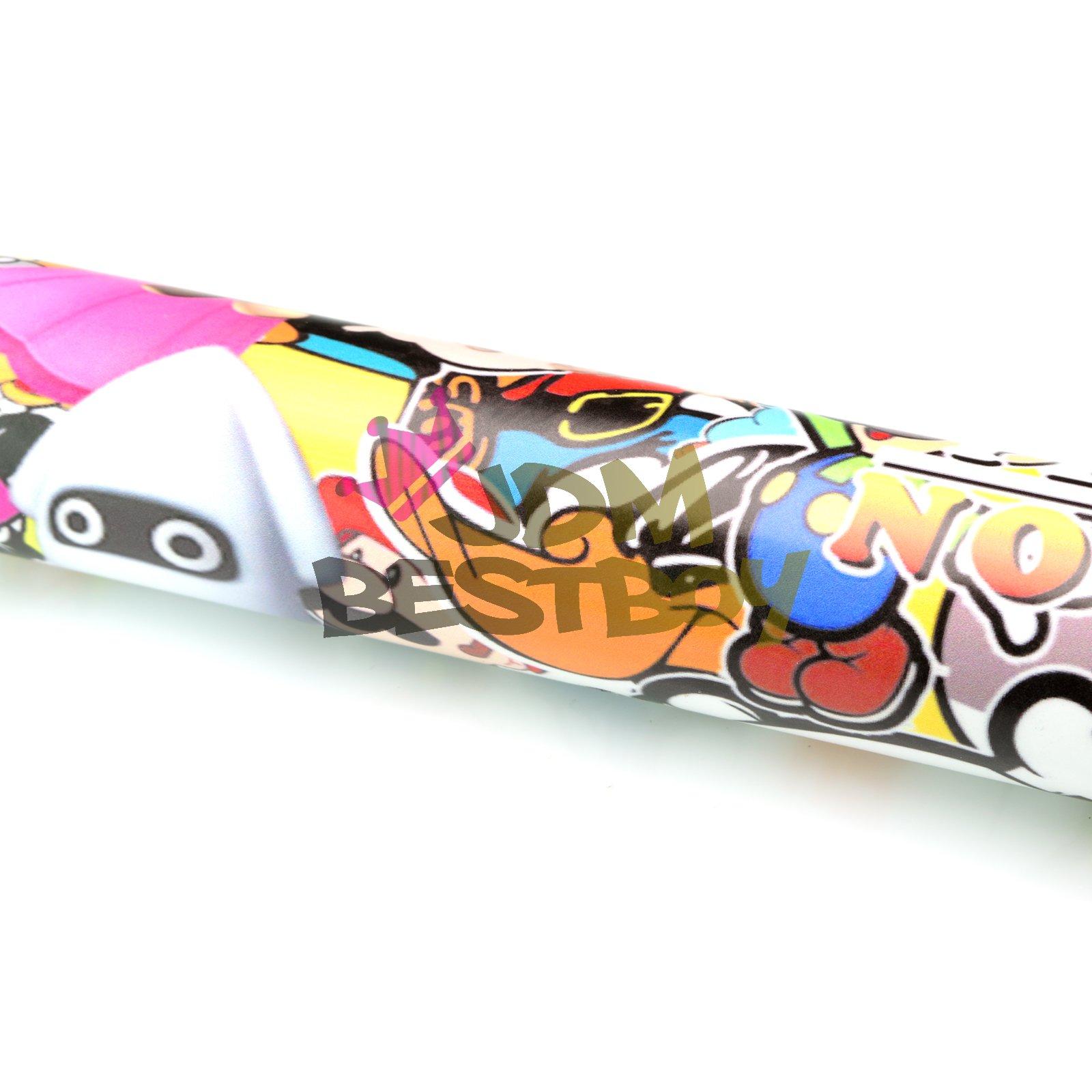 Free Tool Kit MAO JDM Bomber Anime Graffiti Cartoon Car Auto Laptop Vinyl Wrap Sticker Decal Film Sheet - 60''X600'' by JDMBESTBOY (Image #2)