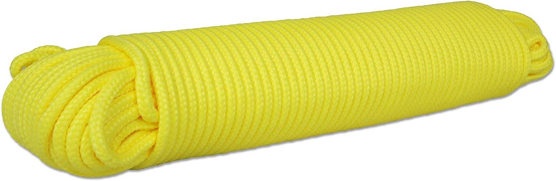 Gelb Polypropylen seil Polypropylenseil PP Tauwerk Festmacher Geflochten Leine Flechtleine Universalseil Geflochtenes Segeln Schnur 100M 8mm
