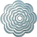 スクラップブック エンボス加工 ステンシル 花 円 金属 切削ダイ DIY アルバム