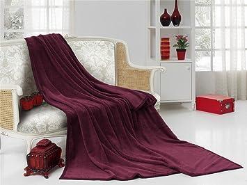 couvre lit couleur bordeaux Natur Fell Shop Couvre lit Plaid couverture couverture velours  couvre lit couleur bordeaux