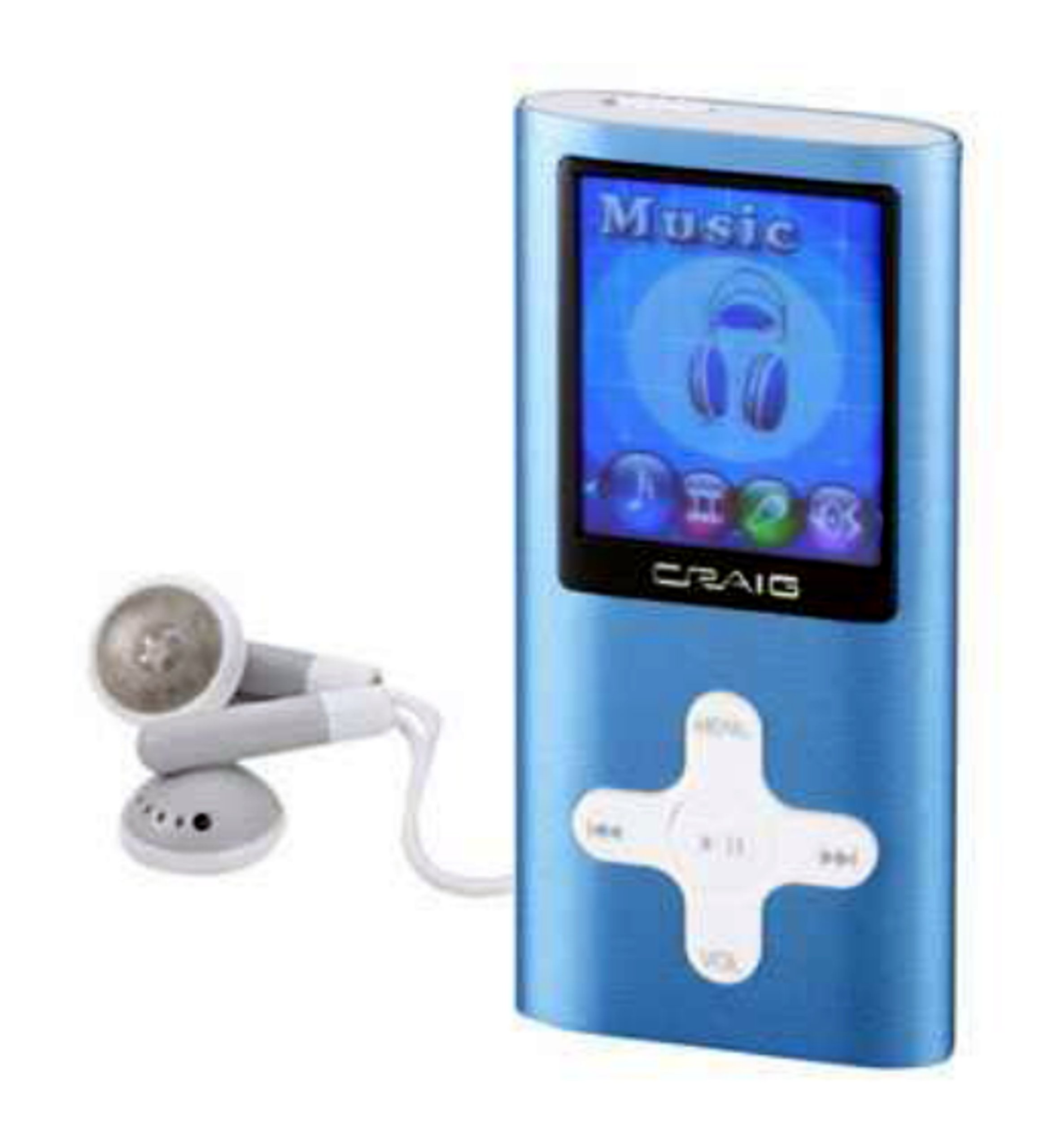 Craig Electronics 4GB MP3 Plus Video Player With 1.8-Inch Color Display