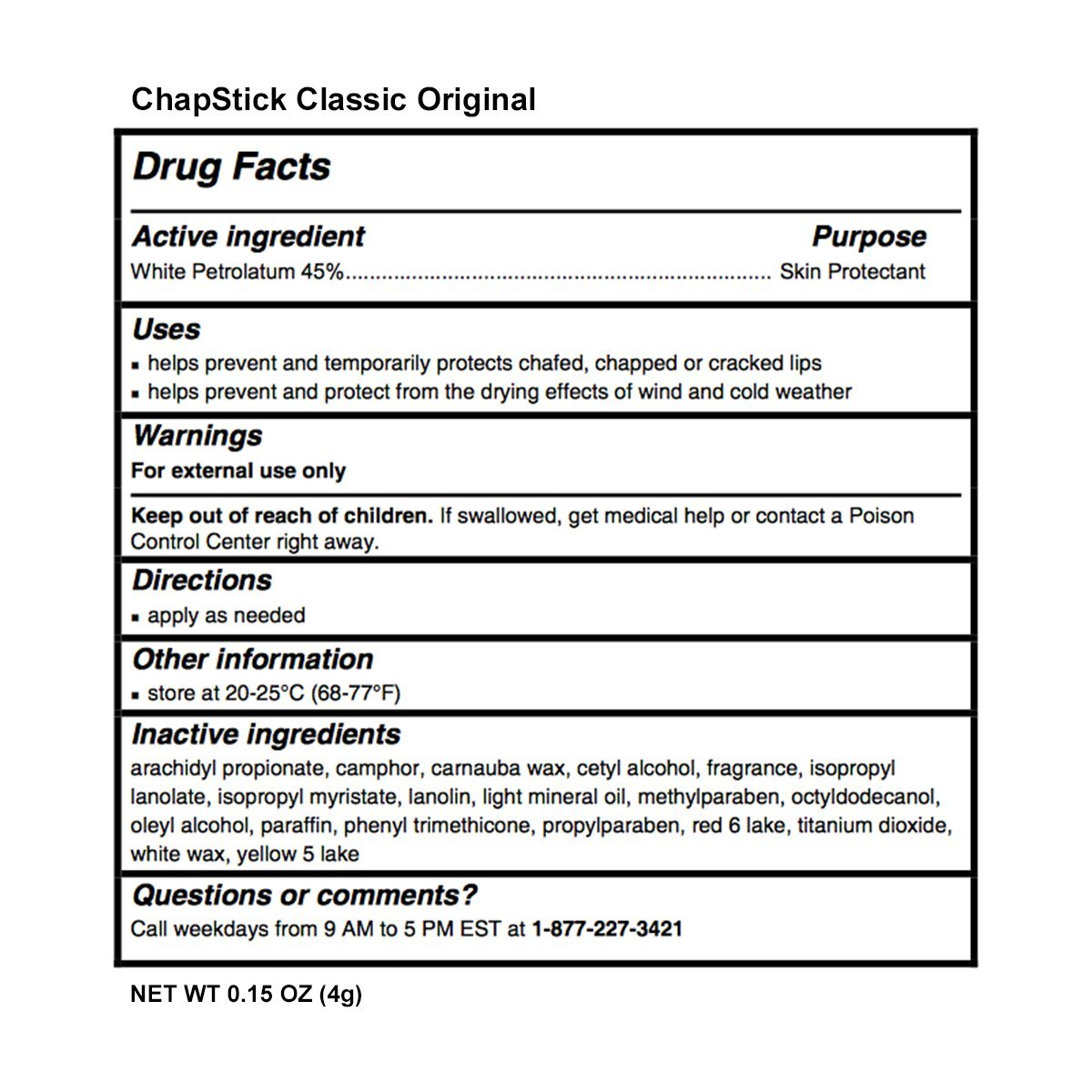 ChapStick Classic (1 Box of 12 Sticks, 12 Total Sticks, Original Flavor) Skin Protectant Flavored Lip Balm Tube, 0.15 Ounce Each,12 Count (Pack of 1) by Chapstick